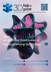 cover of 3D fab+print October edtion