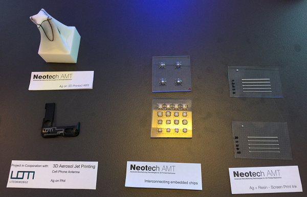 3D printed electronics at the Neotech AMT GmbH stand