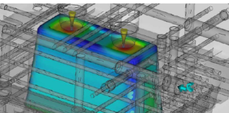 Thermal management research of a mold
