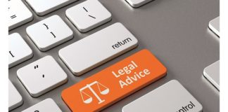 48962966 - a keyboard with a orange button-legal advice